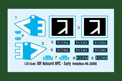 HobbyBoss 83856 1/35 Scale Israel IDF Achzarit APC (Early Version) Military Plastic Assembly Model Kits