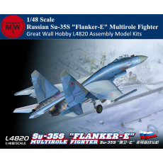 Great Wall Hobby L4820 1/48 Scale Russian Su-35S  Flanker-E  Multirole Fighter Military Plastic Assembly Model Kits