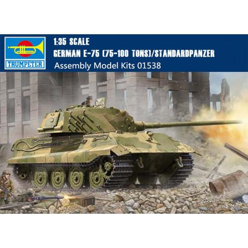 Trumpeter 01538 1/35 Scale German E-75 (75-100 Tons) Standardpanzer Plastic Tank Assembly Model Kits