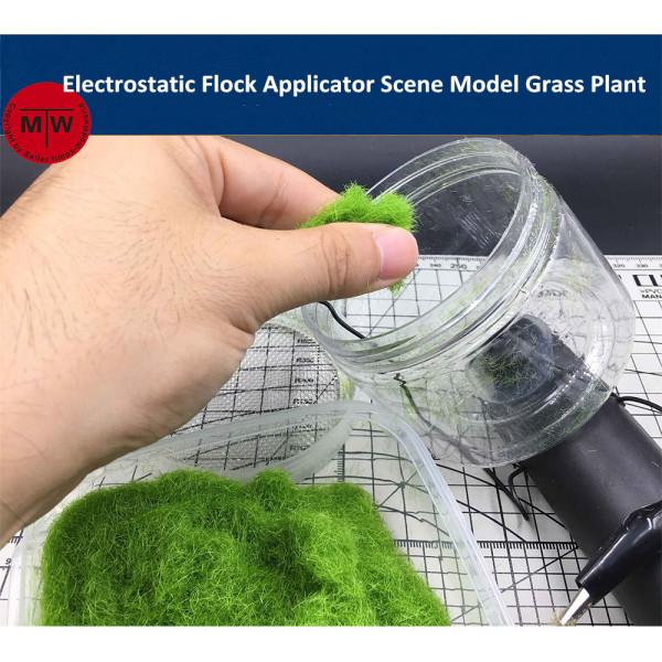 Mini Electrostatic Flock Applicator Scene Model Grass Plant DIY Tools Battery Powered CR008