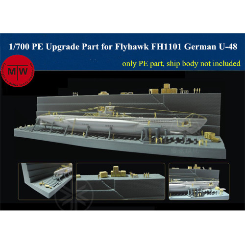 Flyhawk FH710010 1/700 Scale Photo-Etching Upgrade Part for FH1101 German Submarine U-48 Model