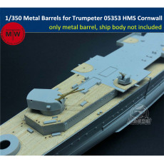 1/350 Scale Metal Barrels for Trumpeter 05353/05352 HMS Cornwall/HMS Kent Ship Model Kits 16pcs/set
