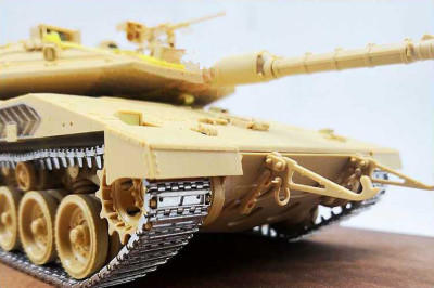 1/35 Scale Finished Metal Track Links for MENG TS-036 Merkava Mk.4M Tank Model SX35011