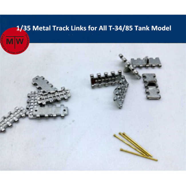 1/35 Scale Metal Track Links for All 1/35 T-34/85 Tank Model w/metal pin Need Assemble SX35002