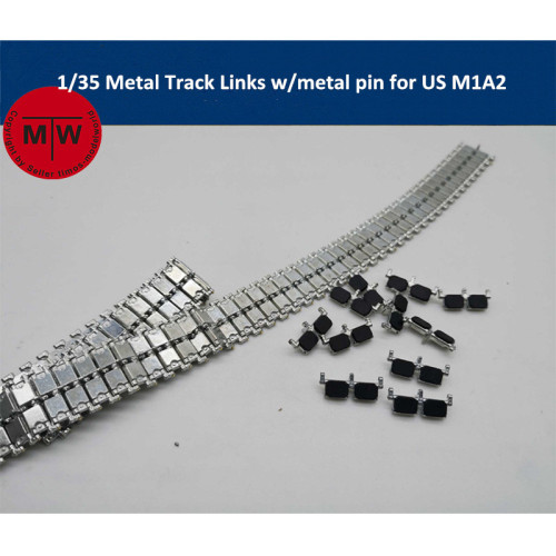 1/35 Scale Metal Track Links w/metal pin for US M1A2 Tank Model SX35013 need assemble