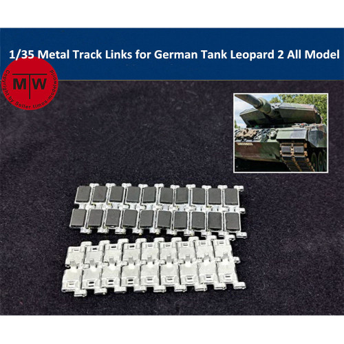 1/35 Scale Metal Track Links w/metal pin for German Tank Leopard 2 All Model SX35006