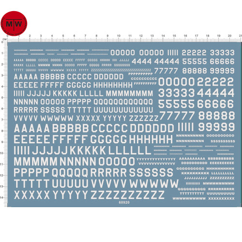 UK USA Number Letter Decals (White) 60920