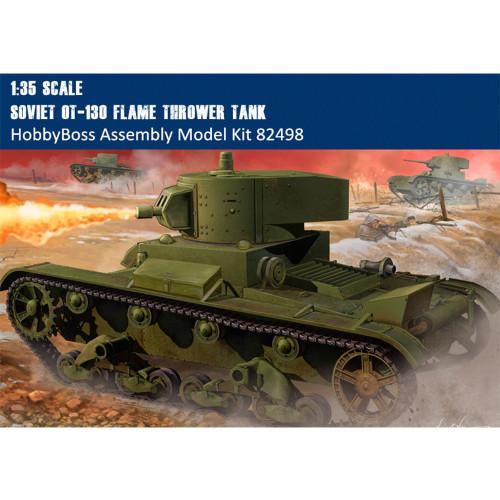 HobbyBoss 82498 1/35 Scale Soviet OT-130 Flame Thrower Tank Military Plastic Assembly Model Kits