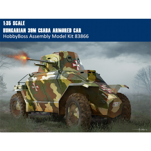 HobbyBoss 83866 1/35 Scale Hungarian 39M CSABA Armored Car Military Assembly Model Building Kits