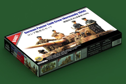 HobbyBoss 84401 1/35 Scale German Panzer Tank Crew Normandy 1944 Soldier Figures Military Plastic Assembly Model Kits