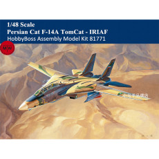 HobbyBoss 81771 1/48 Scale Persian Cat F-14A TomCat - IRIAF Fighter Military Plastic Aircraft Assembly Model Kits