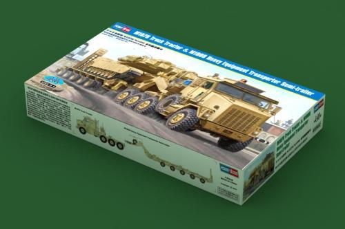 HobbyBoss 85502 1/35 Scale US M1070 Truck Tractor & M1000 Heavy Equipment Transporter Semi-trailer Assembly Model Kits