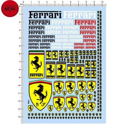 1/12 1/18 1/24 1/20 1/43 Scale Decals for Ferrari Automotive Car Model Kit 1705