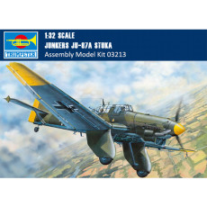 Trumpeter 03213 1/32 Scale Junkers Ju-87A Stuka Dive Bomber Military Plastic Aircraft Assembly Model Kits