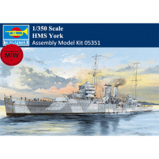 Trumpeter 05351 1/350 Scale HMS York Heavy Cruiser Military Plastic Assembly Model Kits