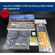 Very Fire VF700901 1/700 Scale USS Montana BB-67 Battleship Model with Upgrade Set(Wooden Deck/PE/Masking Sheet)