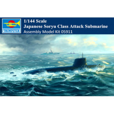 Trumpeter 05911 1/144 Scale Japanese Soryu Class Attack Submarine Military Plastic Assembly Model Kits