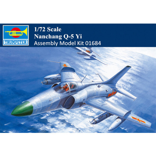 Trumpeter 01684 1/72 Scale Nanchang Q-5 Yi Military Plastic Aircraft Assembly Model Kits