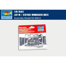 Trumpeter 06611 1/35 Scale LAV-III/Stryker Windscreen Units Military Plastic Assembly Model Kits