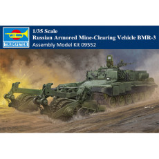 Trumpeter 09552 1/35 Scale Russian Armored Mine-Clearing Vehicle BMR-3 Military Plastic Assembly Model Kits