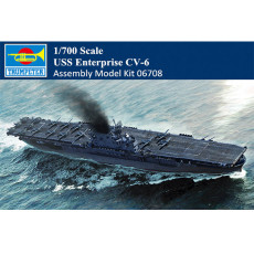 Trumpeter 06708 1/700 Scale USS Enterprise CV-6 Aircraft Carrier Military Plastic Assembly Model Kits