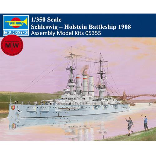 Trumpeter 05355 1/350 Scale Schleswig  –  Holstein Battleship 1908 Plastic Assembly Model Kits
