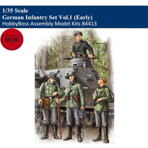 HobbyBoss 84413 1/35 Scale German Infantry Set Vol.1 Early Soldier Figures Military Plastic Assembly Model Kits