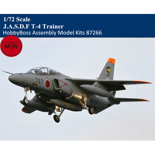 HobbyBoss 87266 1/72 Scale J.A.S.D.F T-4 Trainer Military Plastic Aircraft Assembly Model Kits