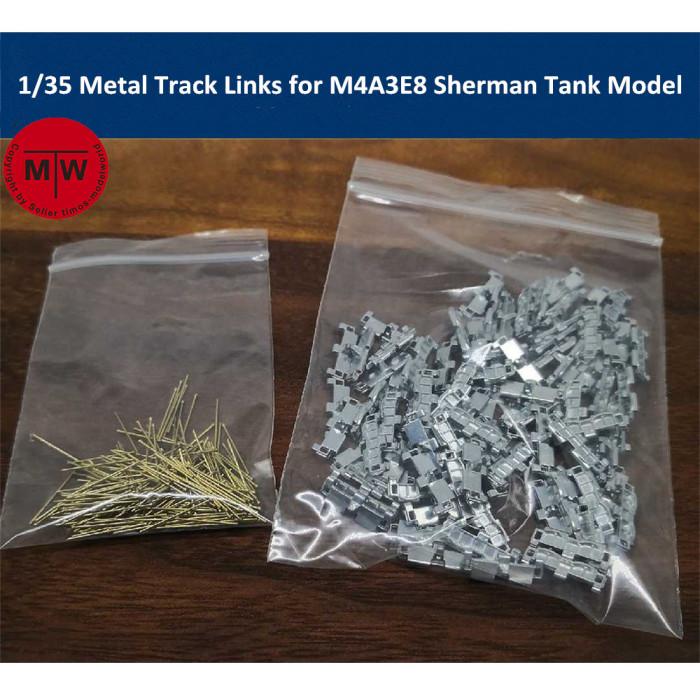 1/35 Scale Metal Track Links for M4A3E8 Sherman Tank Model w/metal pin Need Assemble SX35019