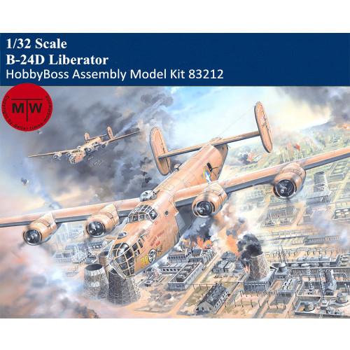 HobbyBoss 83212 1/32 Scale B-24D Liberator Heavy Bomber Military Plastic Aircraft Assembly Model Kits