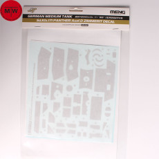 Meng SPS-058 1/35 Scale German Sd.Kfz.171 Panther Ausf. D Zimmerit Decal for TS-038
