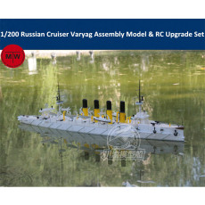 1/200 Scale Russian Cruiser Varyag 1902 Assembly Ship Model & RC Upgrade Set TMW00055