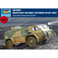 Trumpeter 05594 1/35 Scale Russian GAZ39371 High-Mobility Multipurpose Military Vehicle Plastic Assembly Model Kits