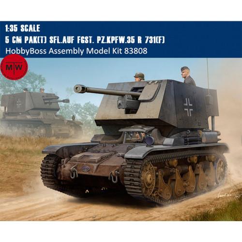 HobbyBoss 83808 1/35 Scale 5 cm Pak(t) Sfl.auf Fgst. Pz.Kpfw.35 R 731(f) Military Plastic Assembly Model Kits