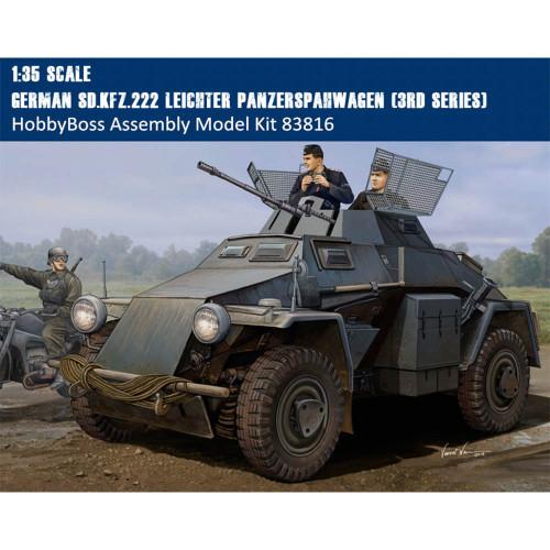 HobbyBoss 83816 1/35 Scale German Sd.Kfz.222 Leichter Panzerspahwagen 3rd Series Plastic Assembly Model Kits