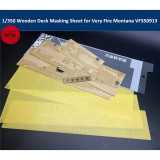 1/350 Scale Wooden Deck Masking Sheet for Very Fire Montana VF350913 Ship Model TMW00056