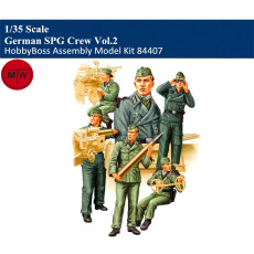 HobbyBoss 84407 1/35 Scale German SPG Crew Vol.2 Soldier Figures Military Plastic Assembly Model Kits