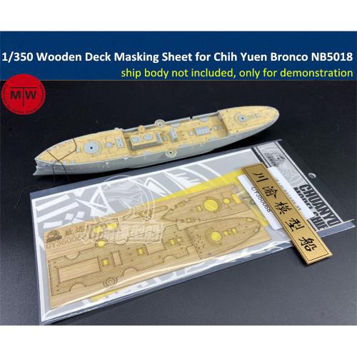 1/350 Scale Wooden Deck Masking Sheet for Imperial Chinese Peiyang Fleet Cruiser Chih Yuen Bronco NB5018 Model