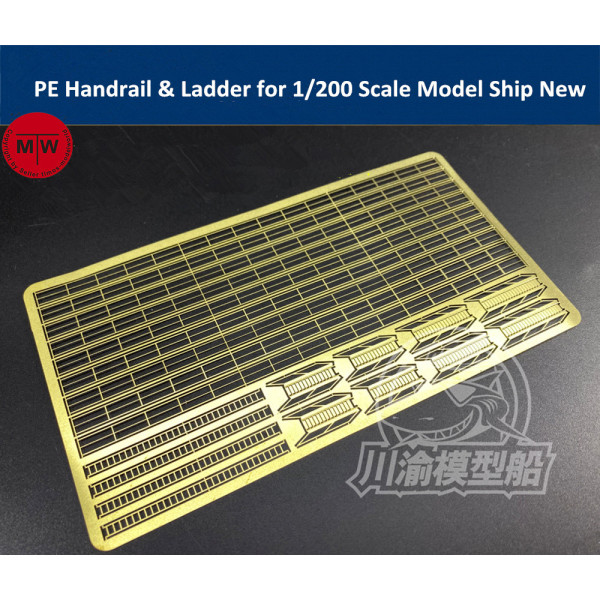 Photo-Etched PE Handrail & Ladder Set for 1/200 Scale Model Ship New TMW00070