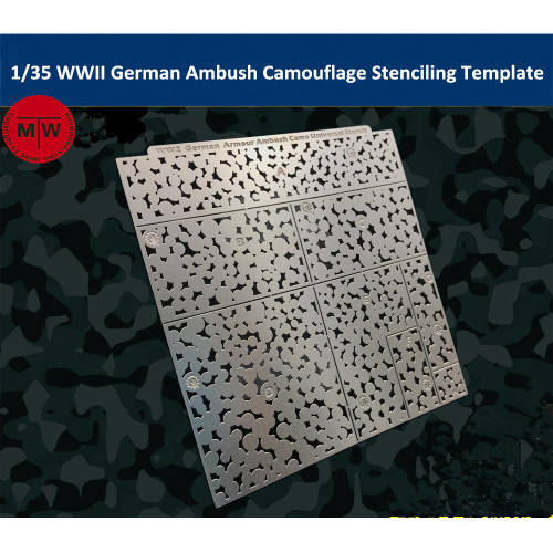 1/35 Scale WWII German Armour Ambush Camouflage Leakage Spray Stenciling Template AJ0020