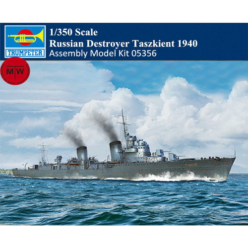 Trumpeter 05356 1/350 Scale Russian Destroyer Taszkient 1940 Military Plastic Assembly Model Kits