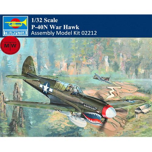 Trumpeter 02212 1/32 Scale P-40N War Hawk Fighter Military Plastic Aircraft Assembly Model Kits