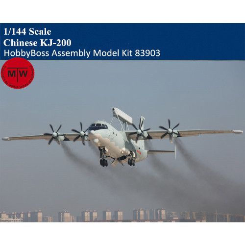 HobbyBoss 83903 1/144 Scale Chinese KJ-200 Military Plastic Aircraft Assembly Model Kits