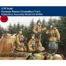 HobbyBoss 84404 1/35 Scale German Panzer Grenadiers Vol.1 Soldier Figures Military Plastic Assembly Model Kits