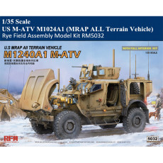 Rye Field RM5032 1/35 Scale US M-ATV M1024A1 (MRAP ALL Terrain Vehicle) w/Full Interior Military Plastic Assembly Model Kits