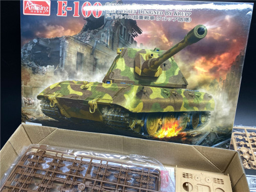 Amusing Hobby 35A015 1/35 Scale German E-100 Super Heavy Tank Assembly Model Kit w/Metal Barrel