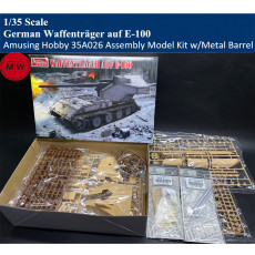Amusing Hobby 35A026 1/35 Scale WWII German Waffenträger auf E-100 Assembly Model Kit w/Metal Barrel Ammunition Model