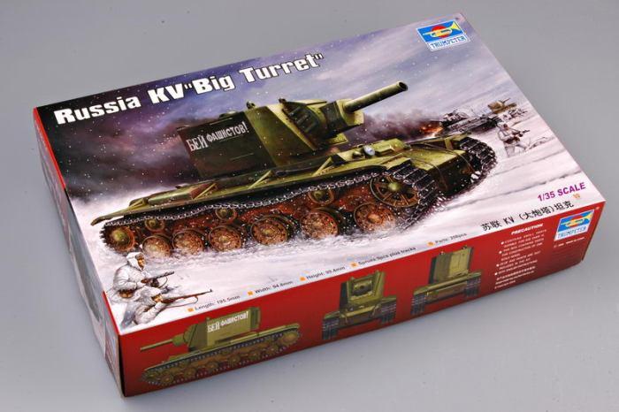 Trumpeter 00311 1/35 Scale Russia KV Big Turret KV-2(1939) Military Plastic Assembly Tank Model Kits