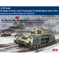 Ryefield RM-5033 1/35 Scale Pz.Kpfw.IV Ausf.J Late Production Pz.Beob.Wg.IV Ausf.J 2in1 Assembly Model Kit