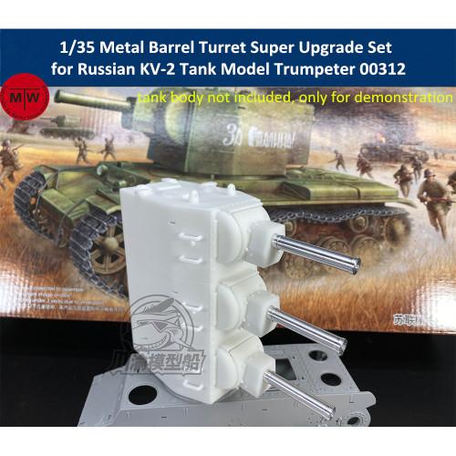 1/35 Scale Metal Barrel Turret Super Upgrade Set for Russian KV-2 Tank Trumpeter 00312 Model TMW00077